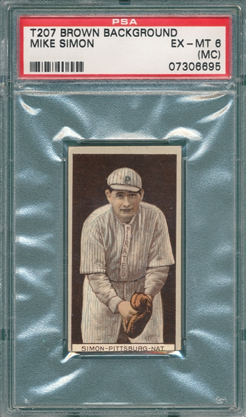 1912 T207 Simon Recruit Little Cigars PSA 6 (MC)