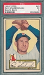 1952 Topps #043 Ray Scarborough PSA 5 *Black Back*