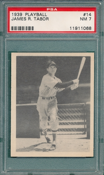 1939 Play Ball #14 James Tabor PSA 7
