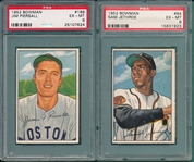 1952 Bowman #084 Jethroe & #189 Piersall, Lot of (2), PSA 6