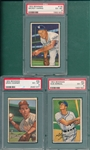 1952 Bowman #035 Hamner, #082 Zernial, and #135 Harris, Lot of (3), PSA 6