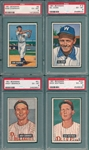 1951 Bowman Lot of (4) W/ #9 Chapman PSA 6