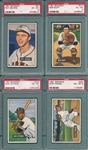 1951 Bowman Lot of (4) W/ #67 Sievers PSA 6