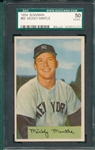 1954 Bowman #65 Mickey Mantle SGC 50