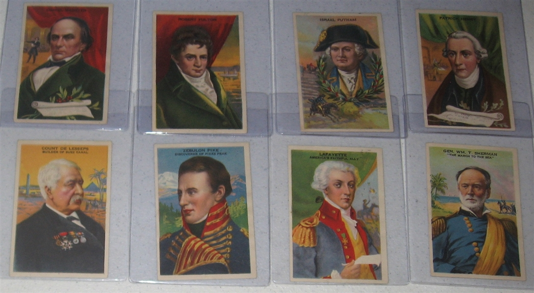 1920s F130 Gridley Butter Heroes of History, Lot of (20) Plus Album