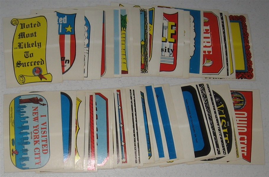 1965 Topps Silly Stickers Complete Set (55)