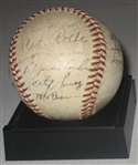 1940 New York Yankees Team Signed Reach Ball, GAI Authentic