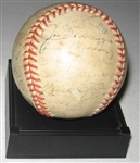 1946 New York Yankees Team Signed Reach Ball, GAI Authentic