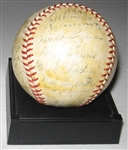 1944 St. Louis Browns Team Signed Reach Ball, GAI Authentic