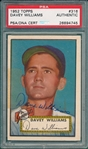 1952 Topps #316 Davey Williams, Signed, PSA/DNA Certified *Hi #*