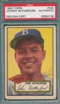 1952 Topps #320 Johnny Rutherford, Signed, PSA/DNA Certified *Hi #*