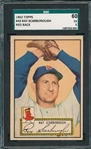 1952 Topps #43 Ray Scarborough SGC 60 *Red Back*