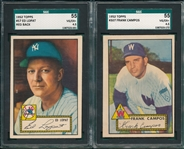 1952 Topps #57 Lopat & #307 Campos, Lot of (2) SGC 55
