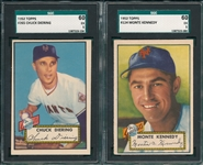 1952 Topps #124 Kennedy & #265 Diering, Lot of (2) SGC 60