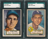 1952 Topps #205 King & #308 Aloma, Lot of (2) SGC 70