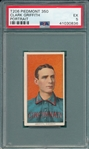 1909-1911 T206 Griffith, Portrait, Piedmont Cigarettes PSA 5