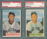 1954 Bowman Baseball Complete Set (225/224) W/ Ted Williams PSA 4 *Crease Free*
