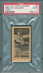 "1927 E210-1 #52 Fred ""Cy"" Williams York Caramels PSA 2"