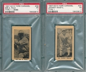 1927 E210-1 #24 Johnny Mostil & #39 Bibb Falk , Lot of (2), York Caramels PSA