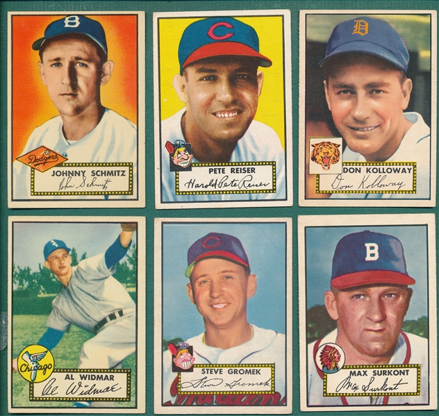 1952 Topps Lot of (15) W/ Chambers