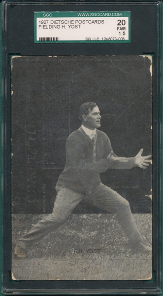 1907 Dietsche PC Yost, Football, SGC 20