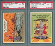 1957 Goofy Post Cards Lot of (10) W/ #34 PSA 8