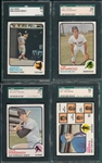 1973 Topps Lot of (4) W/ #380 Bench SGC