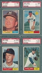 1961 Topps Lot of (4) W/ #217 Roach PSA 8