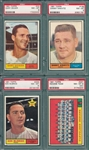 1961 Topps Lot of (4) W/ #33 Geiger PSA 8