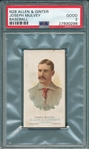 1887 N28 Joseph Mulvey Allen & Ginter Cigarettes PSA 2 *Presents Better*