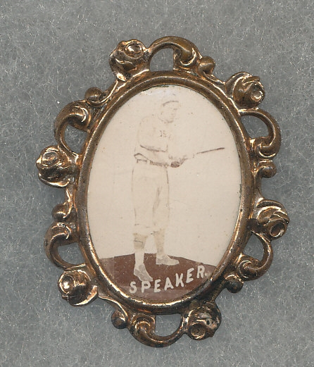 1915 PM1 Tris Speaker, Ornate Framed Pin
