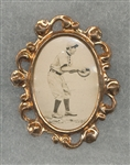 1915 PM1 James Archer, No Name, Ornate Framed Pin, *Strong Image*