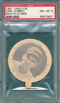 1937 Dixie Lids Carl Hubbell PSA 8 *Only One Graded Higher*