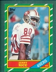 1986 Topps FB #161 Jerry Rice, Rookie