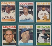 1964 Topps Lot of (6) W/ Mays