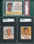 1950-68 Bowman/Topps Lot of (6) Graded, SGC & PSA
