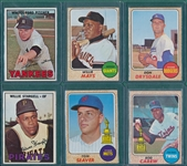 1967/68 Topps Lot of (221) W/ 68 Mays