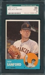1963 Topps #325 Jack Sanford SGC 88 *None Graded Higher*