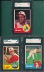 1963 Topps #104, #282 & #449, Lot of (3), SGC 88 *High #*
