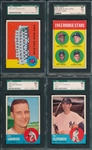 1963 Topps #202, #457, #549 & #568, Lot of (4), SGC 86 *High #*