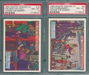 1959 Robin Hood, Master Vending Co., Lot of (2), PSA 8