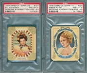 1934 Garbaty Cigarettes #107 & #120, Lot of (2) PSA 8.5