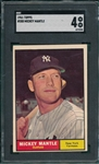 1961 Topps #300 Mickey Mantle SGC 4