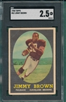 1958 Topps FB #62 Jim Brown SGC 2.5 *Rookie*