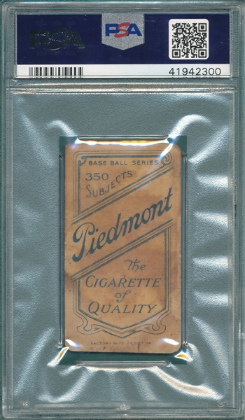1909-1911 T206 Ty Cobb, Bat Off, Piedmont Cigarettes PSA Authentic