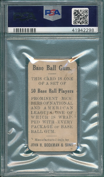 1909 E92 Honus Wagner, Throwing, Dockman & Sons PSA 1.5