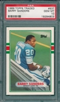 1989 Topps FB Traded #83T Barry Sanders PSA 10 *GEM MINT* *Rookie*
