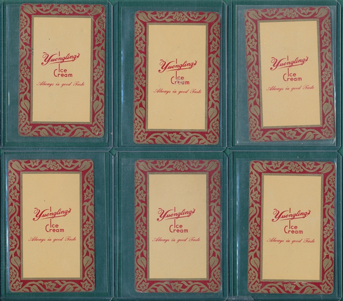 1920/30s Yuengling's Ice Cream Playing Cards, Lot of (6)