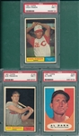 1961 Topps Lot of (5) SGC 84 & PSA 7