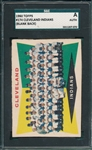 1960 Topps #174 Indians Team SGC Authentic *Blank Back*
